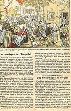 LES MARIAGES DE PLOUGASTEL DESSIN DE DAMBLANS ARTICLE DE PRESSE 1924