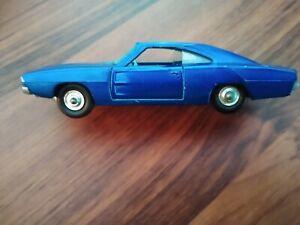 Lesney Matchbox King Size K22 Blue 1969 Dodge Charger