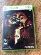 Resident Evil 5 (Microsoft Xbox 360, 2009) Cib Game H3