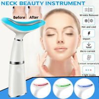 45° Electric Vibration LED Photon Massager Face Lifting Neck Massager Skin Care
