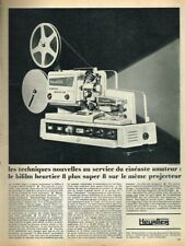 N- Publicité Advertising 1968 Projecteur Bifilm Heurtier 8 + super 8