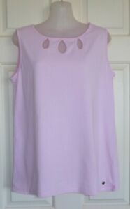 W-LANE Size S Powder Pink Tshirt Top with Cut-outs