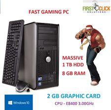 FAST WINDOWS 10 GAMING COMPUTER PC INTEL CORE 2 DUO E8400 @ 3.00GHz 8GB 1TB HDD