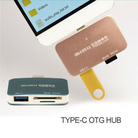 Type-C to USB3.0 OTG Combo Adapter Micro-SD/SD/SDHC/MMC Memory Card Reader