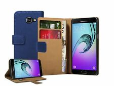 Billetera De Cuero Funda Para Samsung Galaxy S4 (2016) sm-a510f + 2 Protectores