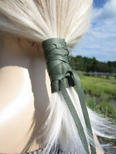 Leather Hair Wraps Ponytail Holder Wrap Hair Jewelry Cuff BOHO Native American