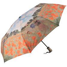 Galleria Art Print Auto Open & Close Folding Umbrella Field of Poppies by Monet