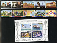 ANGUILLA MINT NH SELECTION: SOUVENIR SHEETS, STRIPS, SETS