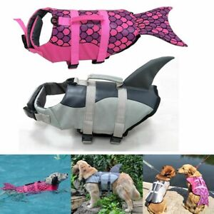 Boating Puppy Surf Saver Coat Mermaid Shark Dog Life Jacket Pet Safety Clothes
