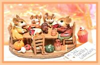 ❤️Wee Forest Folk M-302 Family Gathering Thanksgiving Table RETIRED Mouse WFF❤️
