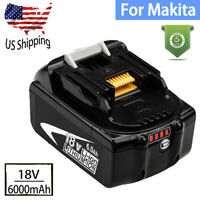 For Makita 18V Lithium ion Battery BL1860B BL1850B BL1830B 18Volt LXT 6.0Ah LED