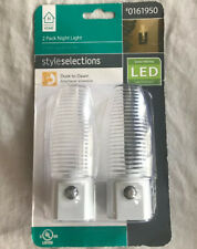 Wall Plug LED Night Lights 2 Pack On Off Switch Bright White