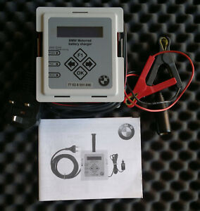 Genuine BMW Motorrad Motorcycle Battery Charger Maintainer Conditioner Can Bus