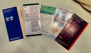 Airline Safety Cards Lot US Based Airlines 1991-2006 Years Rare Vintage Obsolete