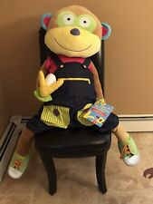 Alex Toys Little Hands Giant Learn To Dress Monkey 4' Foot Tall Rare Retired