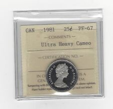 **1981** ICCS Graded Canadian,25 Cent, **PF-67 UHC**