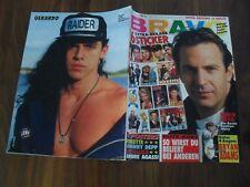 BRAVO 40/1991 Poster Roxette + Johnny Depp + Metallica + Andre Agassi