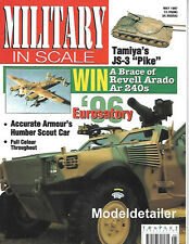 Military In Scale May 97 Tamiya JS-3 Accurate Armour Humber Scout Car Faun Rail