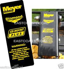 MEYER DIAMOND LIFT ARM  DECAL - MEYER Snow Plow Decal STICKER NEW REPLACEMENT