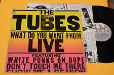 THE TUBES 2LP WHAT DO YOU WANT FROM LIVE ORIG OLANDA 1978 GATEFOLD+INNER