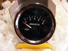 FIAT 500 PRESSIONE OLIO ABARTH STRUMENTO DI BORDO CRUSCOTTO DIAMETRO 52 NERO