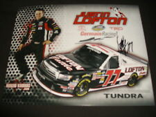 2011 JUSTIN LOFTON LOFTON CATTLE SIGNED NASCAR POSTCARD