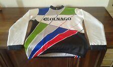 MAGLIA SHIRT VINTAGE '80 CICLISMO CYCLING COLNAGO MULTICOLORE