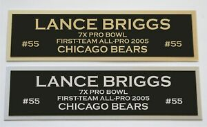 Lance Briggs nameplate for signed jersey football helmet or photo