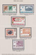 PAPUA NEUGUINEA 1973-83 ** Mi 262-466 Lindner Abo-Sammlung mit Text Album braun