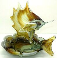 Magnificent Rare Vintage Murano Art Glass Swordfish Marlin Ashtray / Candy Dish