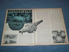 """1967 Hone Overdrive Vintage Tech Info Article """"Overdriving"""""""