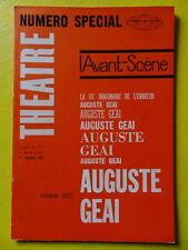 L'Avant-Scène Théâtre 272 1962 numéro spécial Armand Gatti Auguste Geai