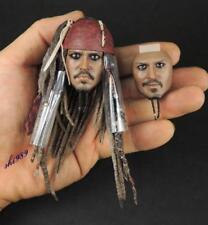 1/6 Scale Hot Toys DX06 Pirates Of The Caribbean Jack Sparrow Head Sculpt Set