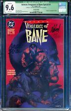 *Signed Chuck Dixon & Graham Nolan* Batman Vengeance of Bane 1 CGC SS 9.6 w/ COA
