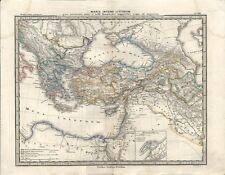 Carta geografica antica MEDITERRANEO ORIEN. GRECIA TURCHIA 1866 Old antique map