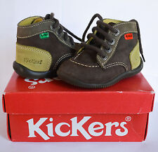 KICKERS TODDLER'S UNISEX LEATHER SHOES SIZE 19 EURO = 4 USA