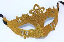 Men Ladies Gold Glitter Venetian Masquerade Party Prom Carnival Eye Mask