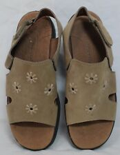 Women's Naturalizer Casual Wedge Sandals Brown Adjustable Back size 8 M EUC