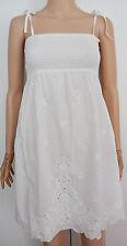 06 NUOVI Monsoon Bianco Paillettes Impreziosito Vestito da estate spiaggia