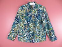 TB02950- ZENERGY By CHICO'S Woman Polyestesr Jacket Blouse Multi-Color Sz 2 M L