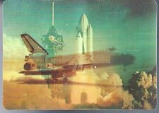 3D Post Card Postally used Space Shuttle Views