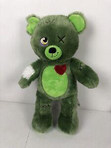 "RARE Build A Bear Zombear Zombie Teddy 16"" Stuffed Plush Toy BAB RETIRED 2015"
