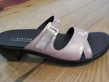 Womens New Balance Sandals Sz 10 Aravon Penelope Pink Pearl  Leather Slides New