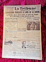 Journal du 27/05/40-LA TRIBUNE-Progression Française le long de la Somme-
