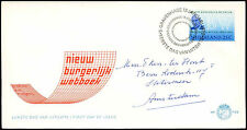 Netherlands 1970 Civil Code FDC First Day Cover #C27417