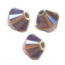 15 Perles Toupies 4mm en cristal Swarovski  SMOKY QUARTZ AB2X