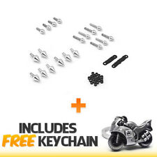 Honda CBR 600RR 1000RR Spike Fairing Bolts Kit (2003-2007)+Sportbike Keychain