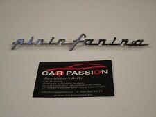 Fregio stemma sigla PININFARINA 170 mm alluminio cromato badge emblem ESCUDO