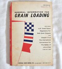 Vtg. 1962 General Information For Grain Loading & Coast Guard Regulations