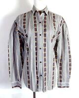 vtg 80s JC Penney Hunt Club Southwest Button Down Top Shirt Blouse Western sz M